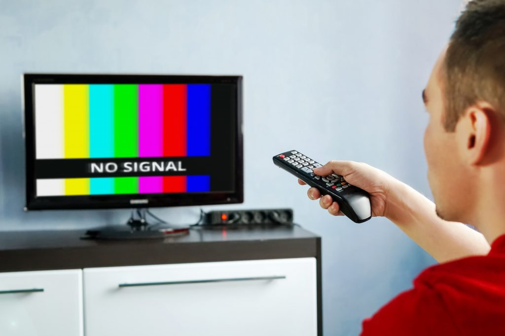 No signal from TV
