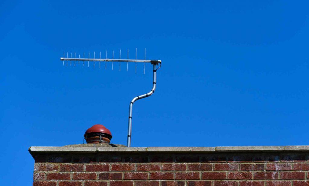 TV aerial on romford roof top